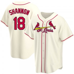 Mike Shannon St. Louis Cardinals Replica Alternate Jersey - Cream