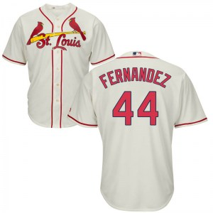 Junior Fernandez St. Louis Cardinals Youth Replica Cool Base Alternate Majestic Jersey - Cream