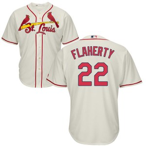 Jack Flaherty St. Louis Cardinals Youth Replica Cool Base Alternate Majestic Jersey - Cream