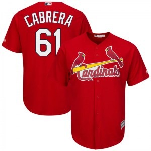 Genesis Cabrera St. Louis Cardinals Replica Cool Base Alternate Majestic Jersey - Scarlet