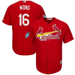 Kolten Wong St. Louis Cardinals Youth Authentic Cool Base 2018 Spring Training Majestic Jersey - Scarlet