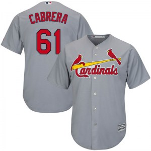 Genesis Cabrera St. Louis Cardinals Replica Cool Base Road Majestic Jersey - Gray