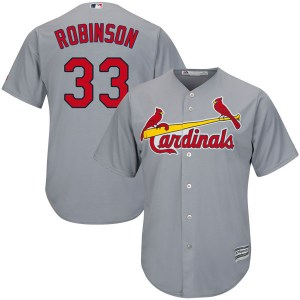Drew Robinson St. Louis Cardinals Replica Cool Base Road Majestic Jersey - Gray